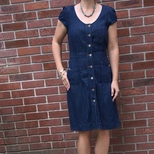 Tommy Hilfiger Dark Denim Button Down Dress